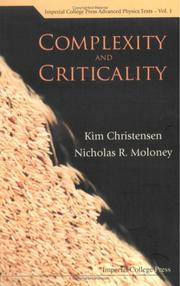 Cover of: Complexity and criticality by