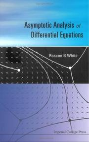 Cover of: Asymptotic Analysis of Differential Equations