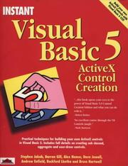 Cover of: Instant Visual Basic 5 Activex Control Creation (Instant)