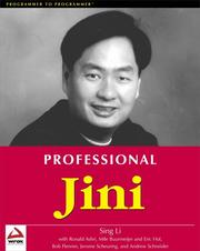 Cover of: Professional Jini
