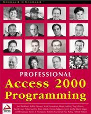Professional Access 2000 programming