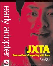 Cover of: Early Adopter JXTA