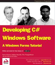 Cover of: Developing C# Windows Software | Jason Bell