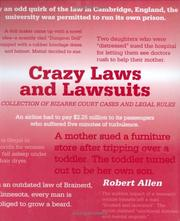 Cover of: Crazy Laws and Lawsuits
