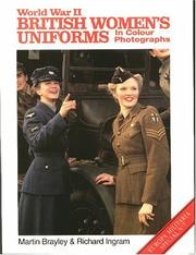 Cover of: World War II British Womens Uniforms (Europa Militaria Special, 7) | Edward Wedlake Brayley