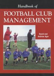 Handbook of Football Club Management by David Ager, Andrew Ager
