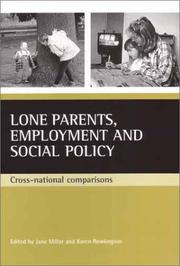 Cover of: Lone Parents, Employment and Social Policy |