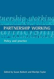 Cover of: Partnership Working