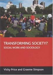 Cover of: Transforming society? | Vicky Price