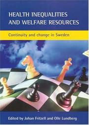 Cover of: Health Inequalities And Welfare Resources |