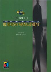 Cover of: Pocket International Encyclopedia of Business and Management