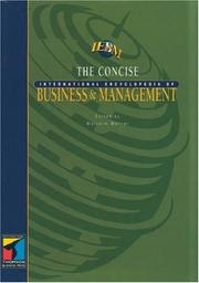 Cover of: Concise International Encyclopedia of Business and Management