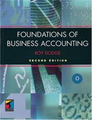 Cover of: Foundations of Business Accounting | Roy Dodge