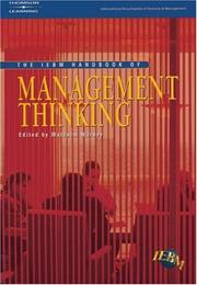 Cover of: The IEBM Handbook of Management Thinking (International Encyclopedia of Business & Management)