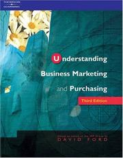 Cover of: Understanding Business Marketing and Purchasing