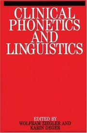 Cover of: Clinical phonetics and linguistics |