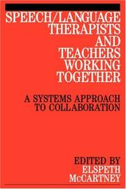 Cover of: Speech/Language Therapists and Teachers Working Together