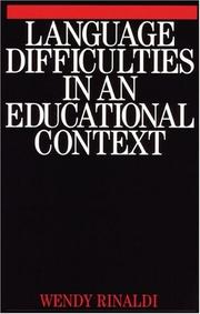 Cover of: Language Difficulties in an Educational Context | Wendy Rinaldi