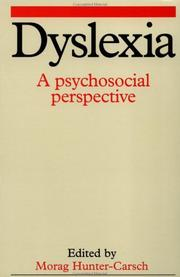 Cover of: Dyslexia  | Morag Hunter-Carsch