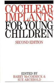 Cover of: Cochlear Implants for Young Children | B. Mccormick
