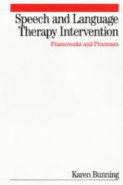 Cover of: Speech and Language Therapy Intervention