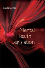 Cover of: Mental Health Legislation | Jess Knowles