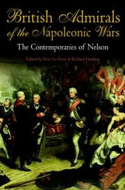 Cover of: British Admirals of the Napoleonic Wars