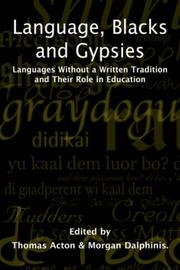 Cover of: Language Blacks and Gypsies |