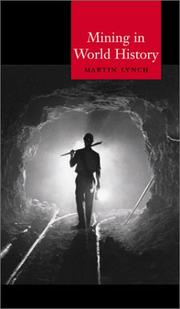 Cover of: Mining in world history | Martin Lynch