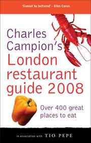 Cover of: Charles Campion's London Restaurant Guide