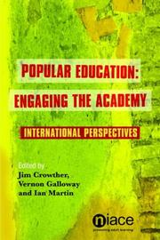 Cover of: Popular Education: Engaging the Academy