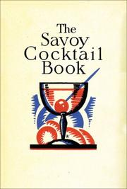 The Savoy cocktail book .. by Harry Craddock