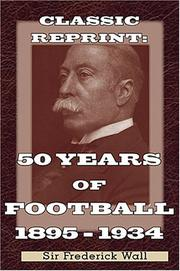 Cover of: 50 Years of Football 1884-1934