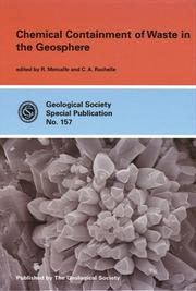 Cover of: Chemical containment of waste in the geosphere |