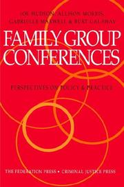 Cover of: Family group conferences