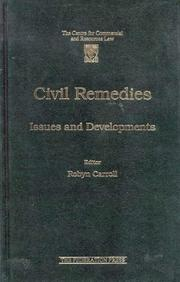 Cover of: Civil Remedies