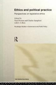 Cover of: Ethics and Political Practice