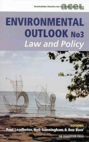 Cover of: Environmental outlook