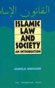 Cover of: Islamic law and society