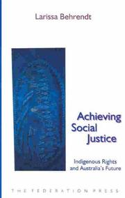 Cover of: Achieving social justice | Larissa Behrendt