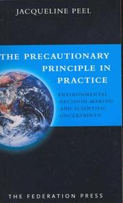 Cover of: The Precautionary Principle in Practice