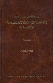Cover of: The Law Affecting Valuation of Land in Australia: