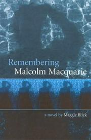 Cover of: Remembering Malcolm Macquarrie