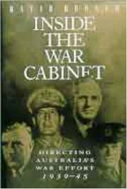 Cover of: Inside the War Cabinet