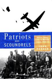 Cover of: Patriots and scoundrels
