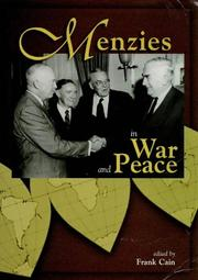 Cover of: Menzies in war and peace |