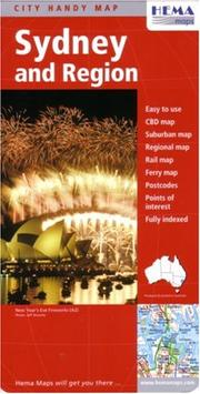 Cover of: Sydney and Region City Map by Hema (Australian State Maps)