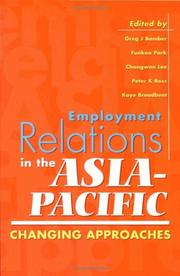 Cover of: Employment relations in the Asia Pacific |