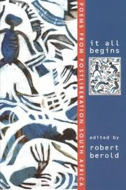 Cover of: It All Begins