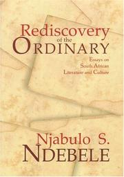 Cover of: Rediscovery of the Ordinary